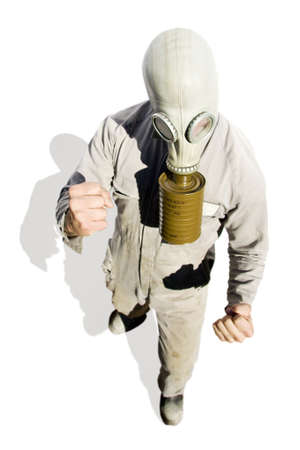 An Isolated Fighter Prepares To Box On In A Biohazard Battle Stock Photo - 13382347