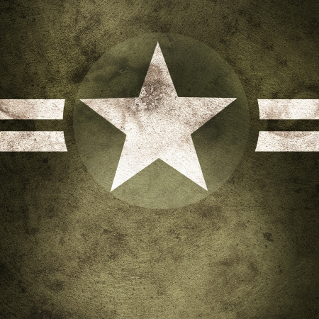 Grunge design of a military army star background with cadet copyspace photo
