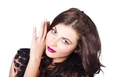Face of a beautiful woman with perfect makeup. Beauty and fashion concept Stock Photo - 20680187