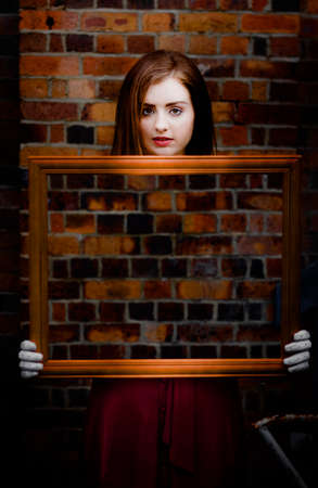 framed picture: In the Illusion Of Life We All Fade And Disappear To Nothing Just Like Framed Picture And Forgotten Memories