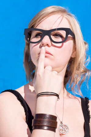 insightful: Visionary Woman Ponders An Expression Of Insight While Thinking Up Ideas Of Inspiration Stock Photo