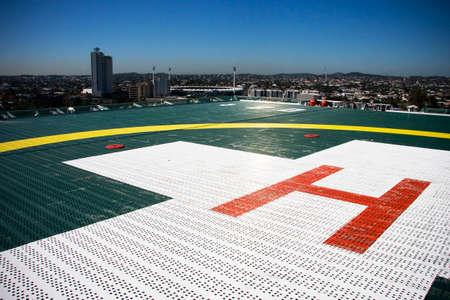helipad: Hospital Helipad On The Rooftop Of A Inner City Building