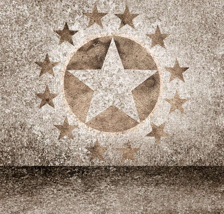 walk of fame: Exclusive gold star hollywood event awards night background. Celebrity walk of fame Stock Photo