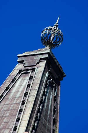 metal tips: Architectural Details On Brisbane City Halls Rusted Rooftop