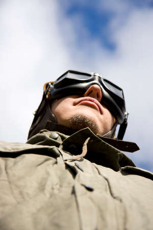 airscrew: Grounded Wingman Stands Gazing At The Clouds With Sky Bound Aspirations