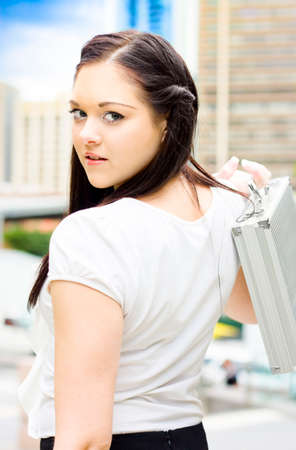 hectic: Busy Business Concept With A Rushing Woman In A Hurry To Get Her Next Urgent And Important Appointment In A Work Commitment And Hectic Schedule Concept