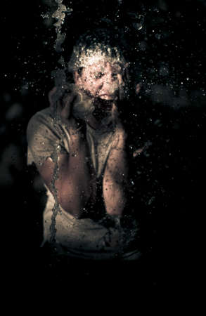 expressive: Horror Is The B Grade Shower Scene Where The Victim Standing Under Falling Water Screams Out In Shrieks Of Terror For Fear Of The Dark Unknown Lurking Behind