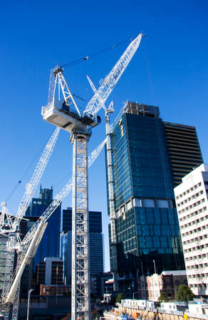 A City Under Construction With Cranes Aplenty (Brisbane City, Queensland, Australia)