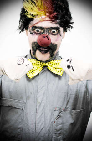 clowning: Clowning Around The Male Master Of Puppets Has Two Socks Talking To Each Other In A Dark And Entertaining Performance