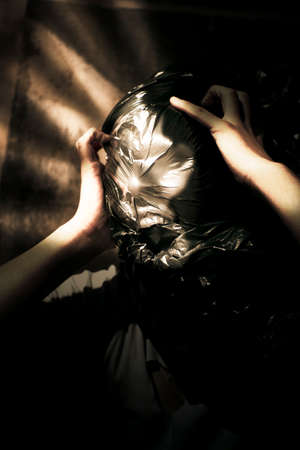 lunacy: Light Pierces Through The Window Of A Mental Asylum Basement Where Nightmare Screams Can Be Heard From A Insane Lunatic Screaming Out In Fits Of Psychotic Rage