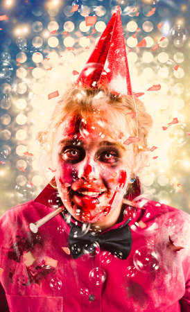 possessed: Possessed dead girl rising from the dead to attend a disco nightclub wake with falling confetti and flashing lights. Monster rave