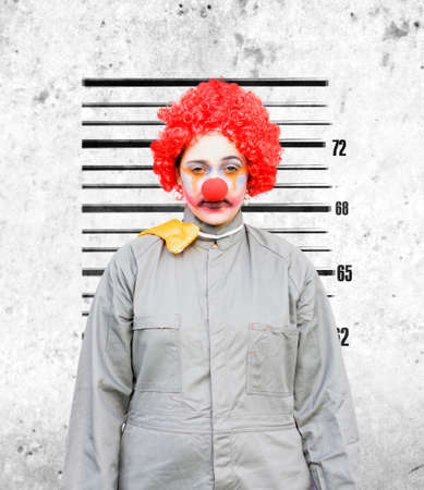 criminal act: Clown Woman Gets Her Police Criminal Record Photograph Taken Down The Police Station After Being Caught In The Act