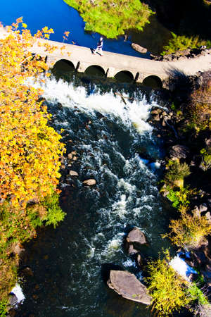 natural force: Water Flows Under The Cement Bridge At Cataract Gorge [Launceston, Tasmania, Australia]