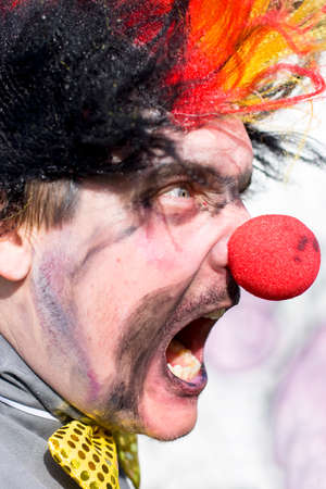 diabolic: Madness The Man Clown Screams In An Angry Fit Of Furious Rage