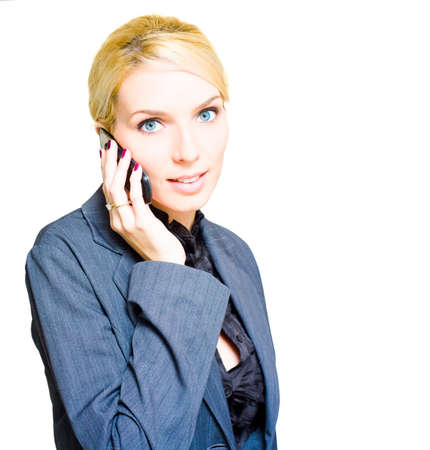 ambitions: Ambitions Driven And Career Minded Business Woman Speaking On A Mobile Cell Phone To A Employment Or Recruitment Agency In A Careers And Job Placement Concept
