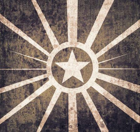 estrellas  de militares: Fondo de la estrella militar del grunge con textura para su publicidad de la vendimia