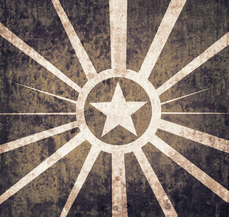 estrellas  de militares: Grunge military star background with texture for your vintage advertising Foto de archivo