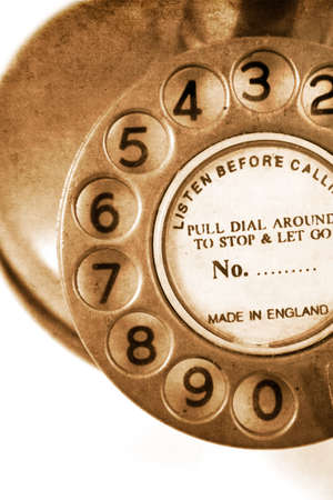 turn the dial: Grungy Old Textured Antique Turn Dial Telephone Stock Photo