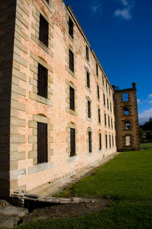 penal: Convict Ruins At Tasmanias Historic Port Arthur Penal Colony, Located In Australia Stock Photo