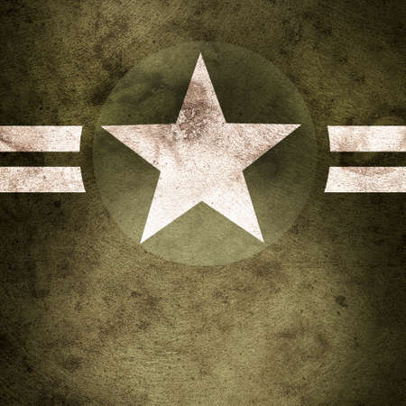 stars and stripes: Grunge design of a military army star background with cadet copyspace