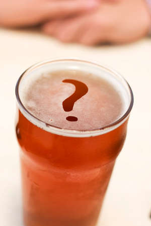 questions: To Beer Or Not To Beer, That Is The Question Stock Photo