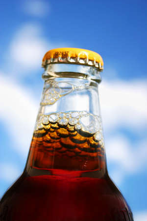 refreshes: Neck On A Unopened Happy New Beer Stock Photo