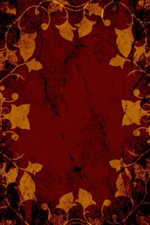 vintages: Maroon Dark Floral Abstact Textured Background