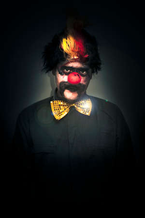 Portrait Of A Deranged Dark And Foreboding Clown