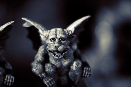 devilish: Evil Gargoyle Figurine With Devilish Smile