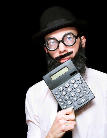 readout: Don Of Mathematical Science Processing A Math Equation To Complex For A Standard Calculator In A Depiction Of Financial And Accounting Genius