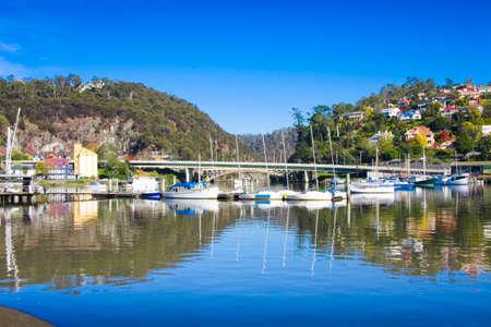 Landscape Photo Of The Picturesque Harbour Town Launceston, Tasmania, Australia