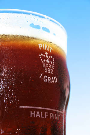 ale: The Grand Old 1 Grad Pint Glass Filled With Pure Ice Cold Golden Ale Bliss