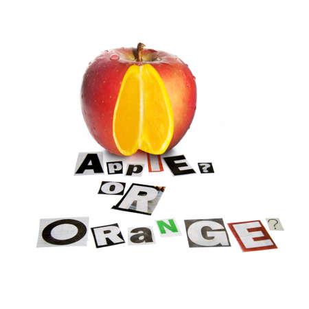 """naranja: Fruta con una diferencia â ? """"Apple Con Una Naranja En el interior"""