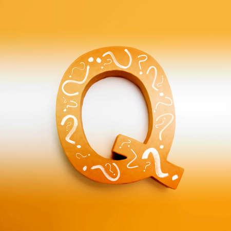 puzzling: Too qool for school when you need a q in education and learning Stock Photo