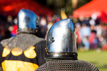 knighthood: Two Knights Take Centre Stage During A Medieval Knight Tournament For A Chance To Be Knighted By The King
