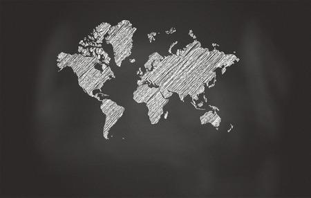 conceptual maps: Bosquejo de la correspondencia de mundo Más Negro Pizarra