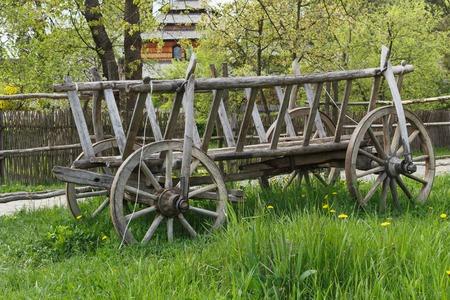 Old traditional wooden cart, Zakarpattia region, Ukraine