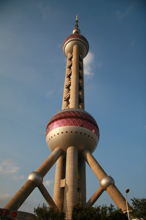 pudong: Oriental pearl tower in Pudong, Shanghai