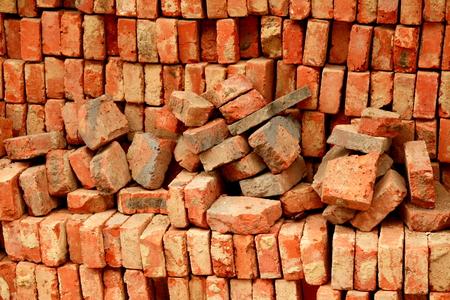 Red bricks background Stock Photo - 1656693