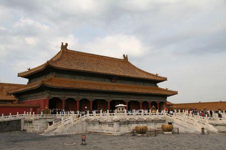 bejing: Hall of Supreme Harmony in Forbidden City Beijing