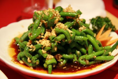 Chinese bean dish - typical dish of Sichuan province Stock Photo