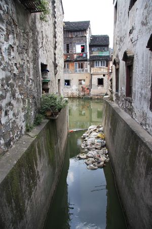 Houses by the Grand Canal in China Stock Photo - 1747051