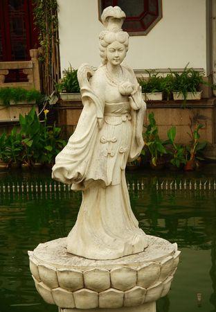 Statue in Yuyuan garden Shanghai photo