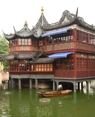 Old teahouse in Shanghai photo