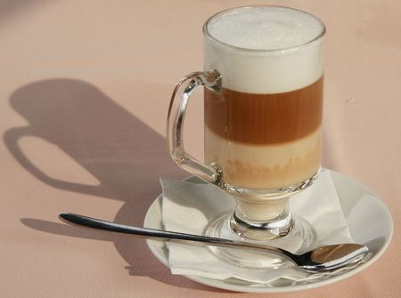 caffe: Caffe Latte Stock Photo