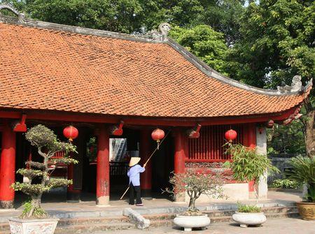 Temple of literature in Hanoi Vietnam Stock Photo
