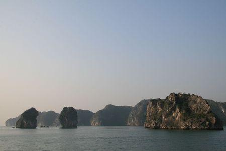 karst: Karst rocks in Halong Bay