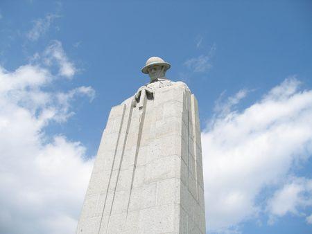 Flanders War Memorial near Ypres for Canadian Great War victims (St Julian)