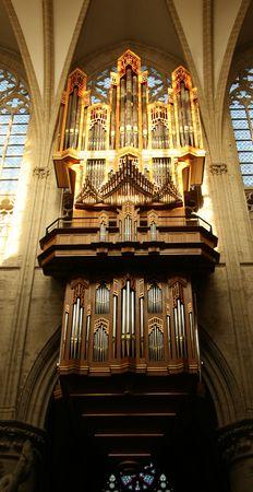 Orgel in de kathedraal van Brussel