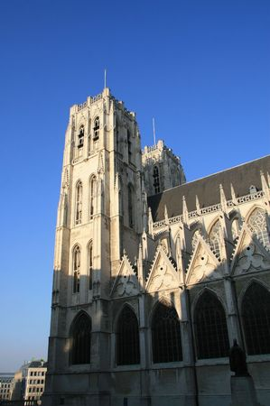 Cathedral of Saint Michael and Saint Gudula in Brussels Belgium photo